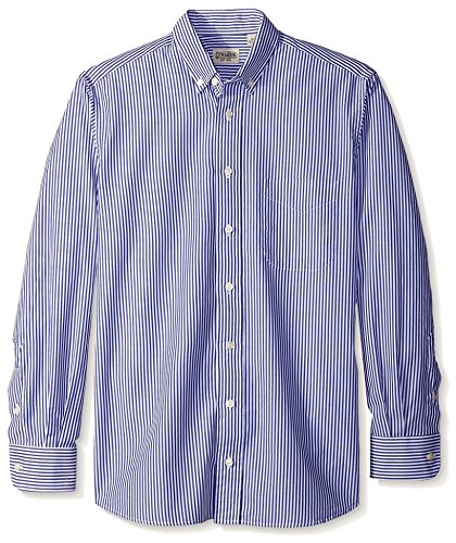 Gitman Blue Men's Bengal Stripe Button Down Sport Shirt, Blue, L