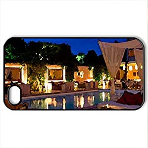 Beautiful Evening - Case Cover for iPhone 4 and 4s (Watercolor style, Black)