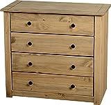 Mercers Furniture Panama 4-Drawer Chest - Pine