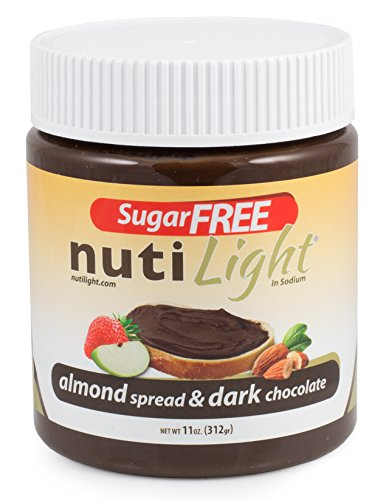 Nutilight Almond and Cocoa Spread, 11 Ounce (Pack of 16) by Nutilight