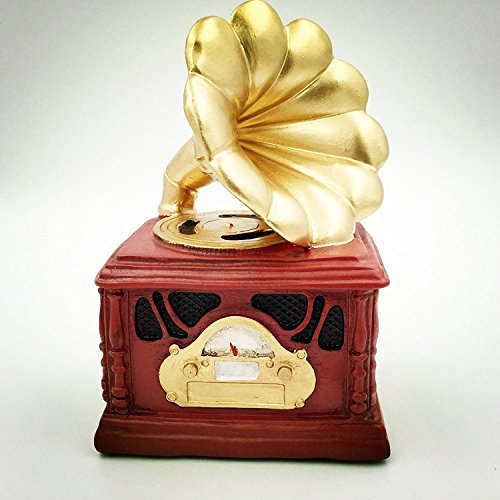 Eastyle piggy banks Retro phonograph Savings/Coin/Money Decorative Banks for Kids adults Wedding Birthday Gift