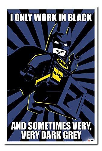 Lego Batman Meme Poster White Framed & Satin Matt Laminated cms Approx