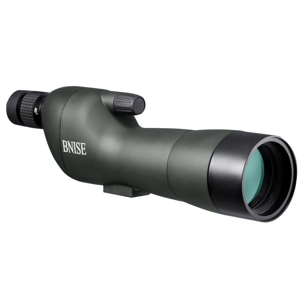 BNISE HD Gerade Spektiv - Voll mehrfachvergütete Optik - Wasserdicht und Fogproof - 20-60x60 Zoom Monocular-Teleskop - mit Handstativ - mit Kamera und Telefon-Fotografie-Adapter - Armee-Grün