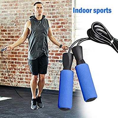 Skipping Rope Portable Durable and Easy Adjust Advanced Skipping Jump Rope for Workout Aerobic Exercise, Tangle-Free, Comfortable Foam Handles, Indoor&Outdoor&Sport: Home Improvement