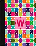 Rikki Knight Letter W Monogram Vibrant Hot Pink Edgy Mosaic Design Faux Leather Case for Apple iPad Mini (Not for iPad Mini 4)