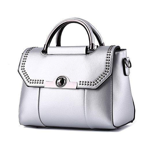 silvery All Lady Hombro Claret Bolso Moda Meoaeo Match Mini De Coreana wvqzzSaf