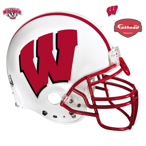 Fathead Wisconsin Badgers Helmet Wall Decal