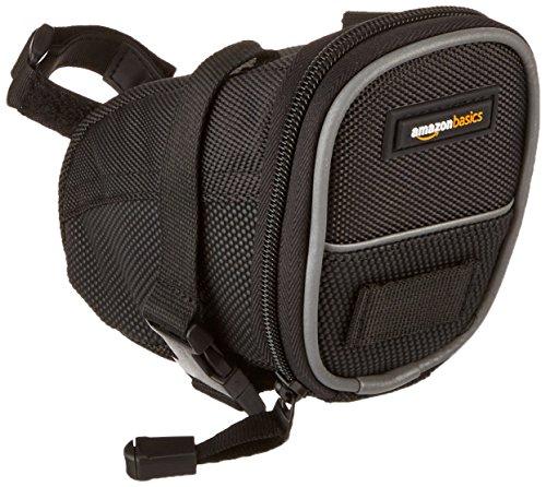 AmazonBasics Strap On Wedge Saddle Bag for Cycling