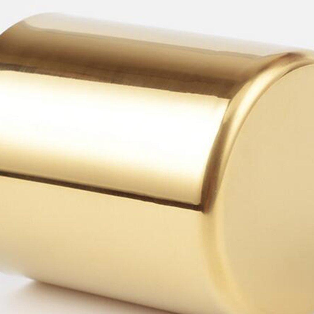 SODIAL Gold Flower Vase Pen Holder Desktop Storage Container for House Office - Cylinder