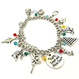 Disney Peter Pan Jewelry Merchandise - Charm Bracelet for Fans (Silver)