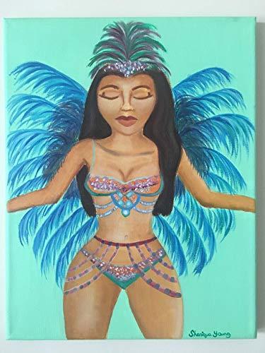 West Indian Carnival Costume Art Prints, 8x10, 11x14 inch print, Caribbean Art, Jamaica Art, Trinidad Art, Brazilian Art