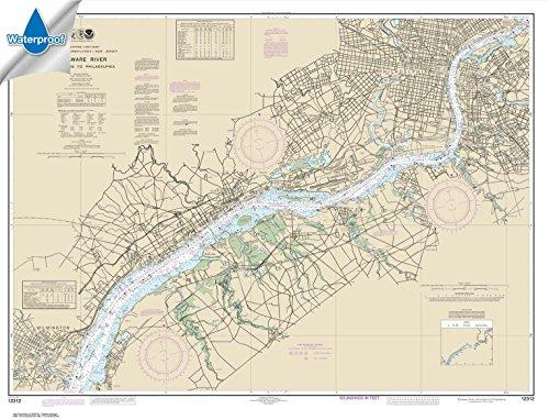 Paradise Cay Publications NOAA Chart 12312: Delaware River Wilmington to Philadelphia 34.6 x 45.3 (WATERPROOF)