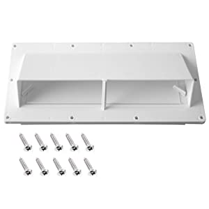 Gekufa RV Range Hood Vent Cover with 10 Pcs Screws, RV Stove Vent Cover/RV Exhaust Vent Cover, White