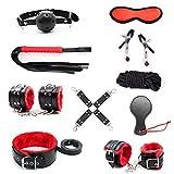 IM Sxtoyforu 10 Pcs/Pack Black PU Leather Velvet Lining Kit (Red and Black)