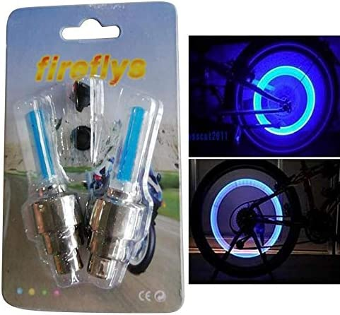qingtang37 2 x LED Fashionable Lamp Flash Tyre Wheel Valve Cap Light For Car Bike Bicycle Motorcycle Bike Accessories Light
