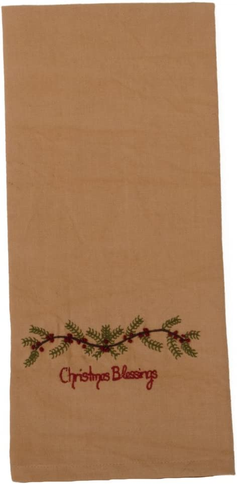 Home Collections by Raghu Blessings Tea Dyed Christmas Towel, 2 Piece
