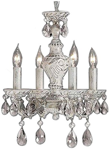 - Classic Lighting 8334 AW C Gabrielle, Crystal, Mini-Chandelier, Antique White