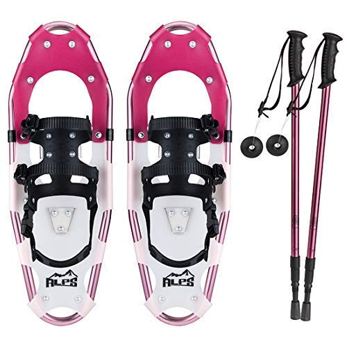 ALPS Adult Lightweight Snowshoes Set for Women,Girls+Trekking Poles,Carrying Tote 19/21/25/27/30 (30 inch)