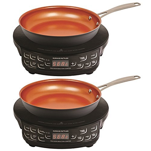 NuWave PIC Compact Precision Induction Cooktop with 9-inch Fry Pan (2-Pack Bundle)