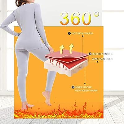 Thermal Underwear for Women Fleece Lined Basic Long John Set Ultra Soft: Clothing