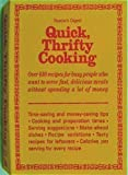 Quick, Thrifty Cooking, Reader's Digest Editors, 0895771810