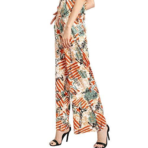 Pantaloni Multicolore Pantaloni Larghi Zhrui Floreali Donna tw7XnYq