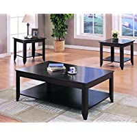 Coaster 3-Piece Contemporary Occasional Table Set, Cappuccino