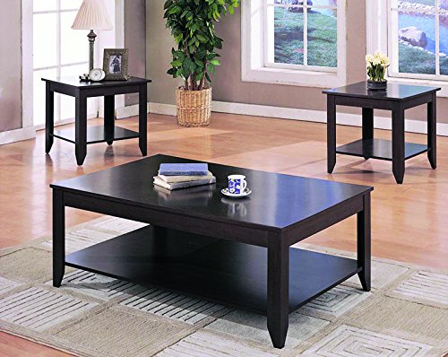 Coaster 3-Piece Contemporary Occasional Table Set, Cappuccino - Three Piece Occasional Set