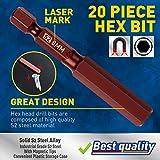 Amartisan 20-Piece Hex Head Allen Wrench Drill Bit