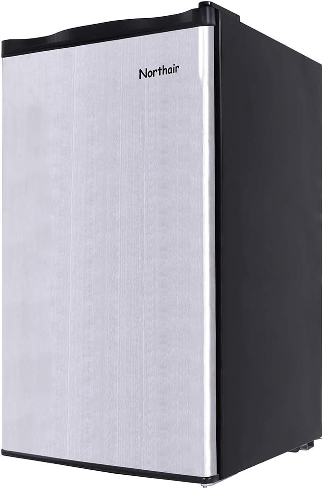 Northair Compact Fridge Refrigerator with Mini Freezing Compartment,3.2 Cu.Ft Single Reversible Door Dorm Size Refrigerator Freezer for Cold Drink/Beverage/Wine/Fruits/Vegetables