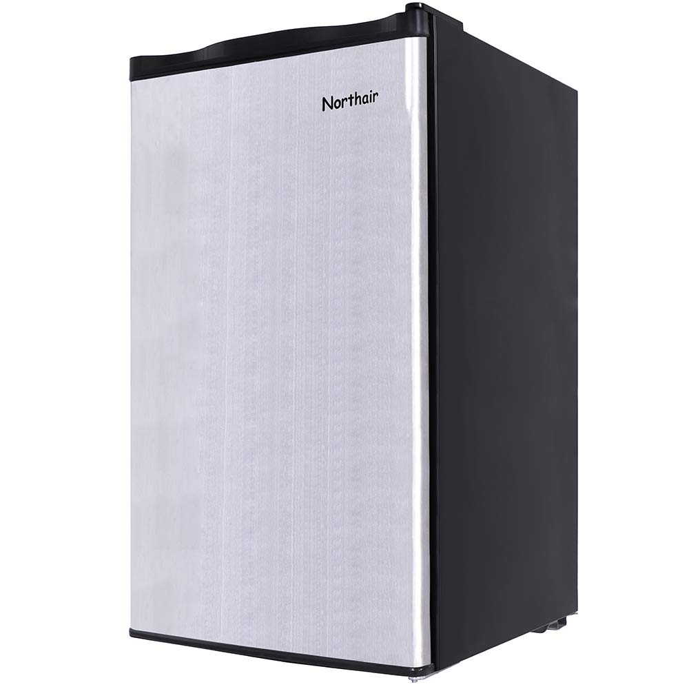 Northair Compact Fridge Refrigerator with Mini Freezing Compartment,3.2 Cu.Ft Single Reversible Door Dorm Size Refrigerator Freezer for Cold Drink/Beverage/Wine/Fruits/Vegetables by Northair