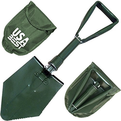 NATO Emergency Military Grade Shovel use it as a garden or snow foldable spade - 365 Day Guarantee (Green)