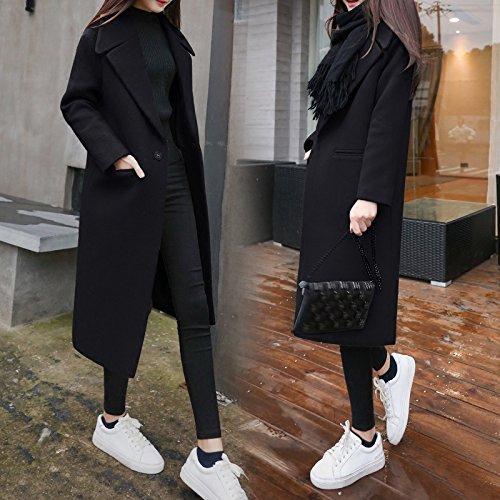para una de mostrar Mayihang vestido mujer Clásico negro delgada largo un de en capa moda abrigo capa X80z1Tq8