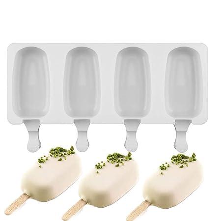 Compra Yiwa - Molde de Silicona con 4 Agujeros para Hacer Helados ...