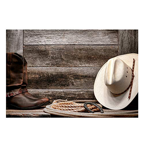 Fantasy Star Aquarium Background Western Cowboy Equipment Boots and Hat Fish Tank Wallpaper Easy to Apply and Remove PVC Sticker Pictures Poster Background Decoration 20.4