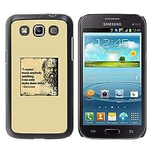 FlareStar Colour Printing Socrates Yellow Marble Quote Deep Smart cáscara Funda Case Caso de plástico para Samsung Galaxy Win / i8550 / i8552 / Grand Quattro
