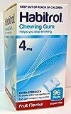 Habitrol Nicotine Quit Smoking Gum, 4mg, Fruit flavor coated gum. 96 pieces per box