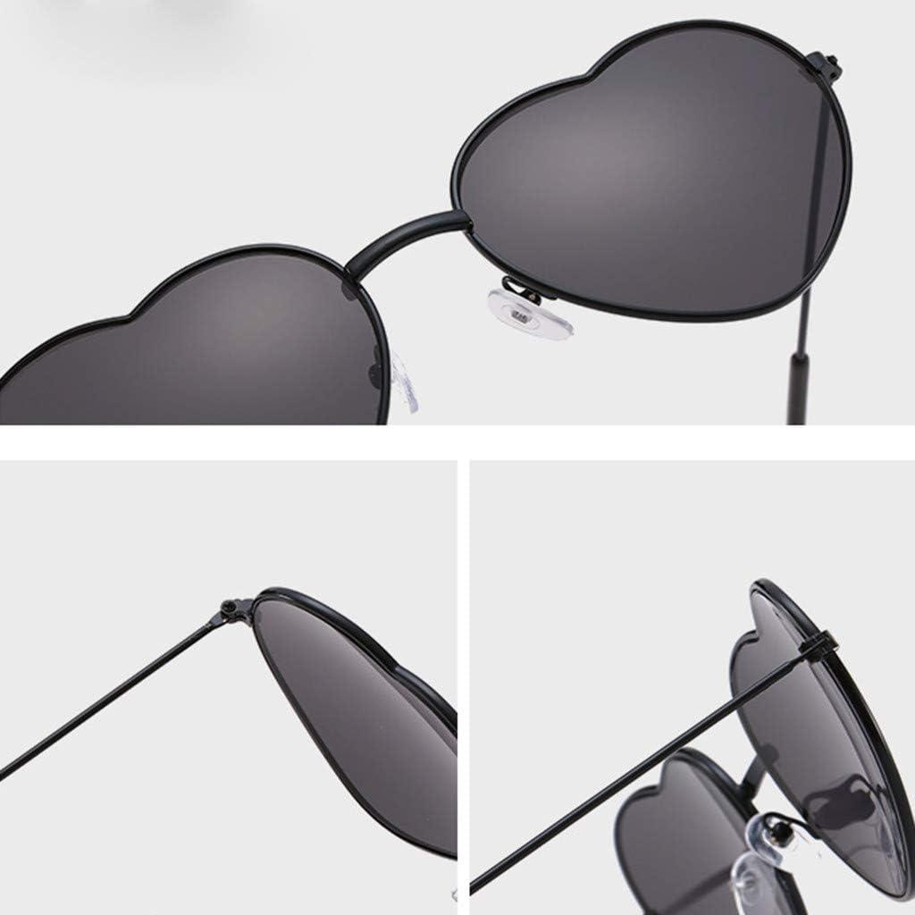 ODJOY FAN Occhiali da sole Colorato bicchieri metallo Cuore