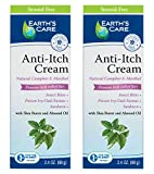 Earth's Care Anti-Itch Cream, No Parabens, Steroids, Artificial Colors Or Fragrances, Allergy-Tested 2.4 oz. (2 Tubes) …
