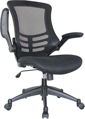 Manhattan Comfort Lenox Mesh Adjustable Office Chair, Black, Set of 2