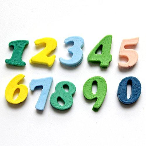 Nicole 10-Cavity Arabic Numerals Shapes Silicone Mold Fondant Cake
