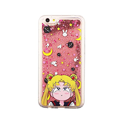 100% authentic 2362a 065af Pink Glitter Flowing Sailor Moon Luna Cat Case for iPhone 6Plus 6+ 6sPlus  6s+ Cartoon Shockproof Protective Glittery Liquid Floating Transparent Cute  ...