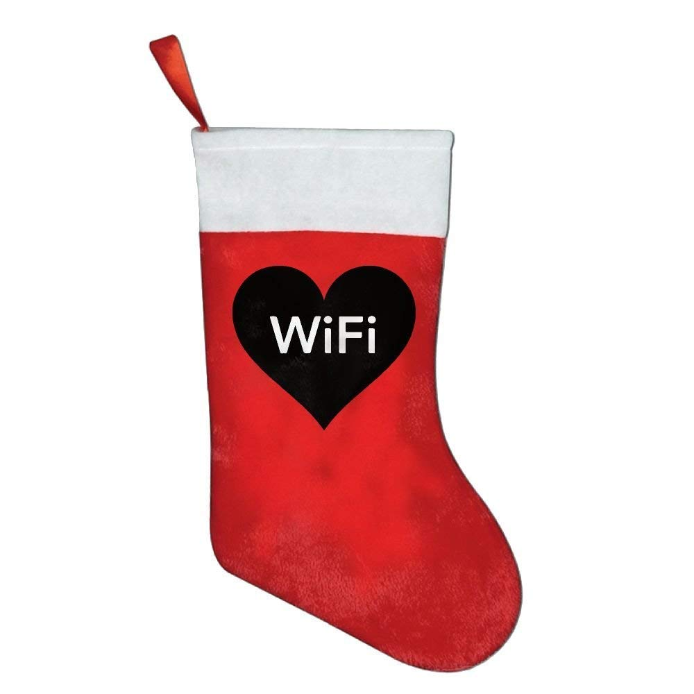 Cool WiFi Love Heart Christmas Holiday Stockings