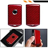 Cuztom Tuning PREMIUM SNAP ON HOT RED CARBON FIBER PROTECTIVE CASE FOR 2017-19 VOLVO XC40 XC60 XC90 S90 V90 REMOTE KEY FOB