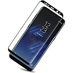 S8 Plus Screen Protector (Full Screen Coverage), Asstar 9H Hardness 2.5D Tempered Glass Bubble-Free Scratch-Proof for Samsung Galaxy S8 Plus/ S8+ (Black)