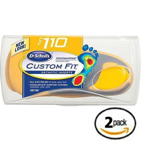 Dr. Scholl's Custom Fit Orthotics CF 110 2-Pack Shoe Sole Insole Inserts