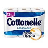 #3: Cottonelle CleanCare Big Roll Toilet Paper (Pack of 12 Rolls), Bath Tissue, Ultra Soft Toilet Paper Rolls with Clean Ripple Texture, Sewer and Septic Safe