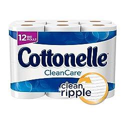 Cottonelle Clean Care Big Roll Toilet Paper, Bath Tissue, 12 Toilet Paper Rolls