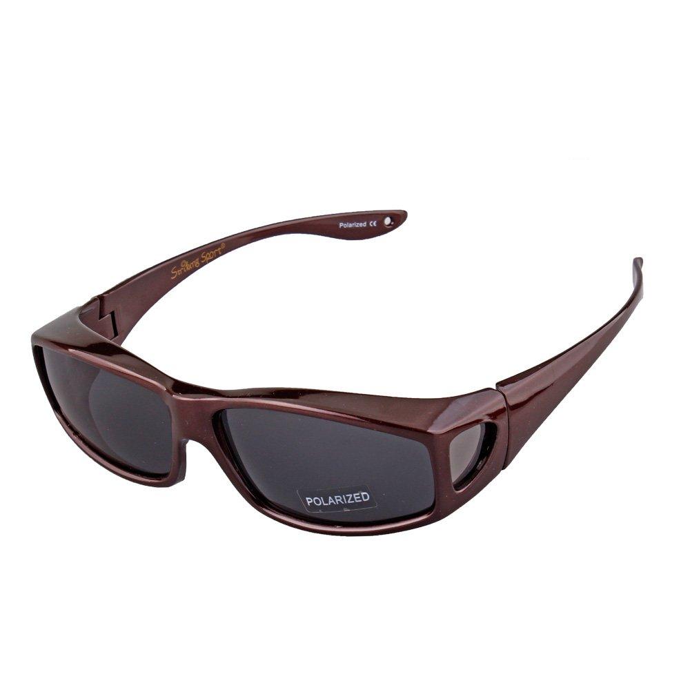 Gafas de Sol polarizadas con Lente Lateral para Hombres y ...