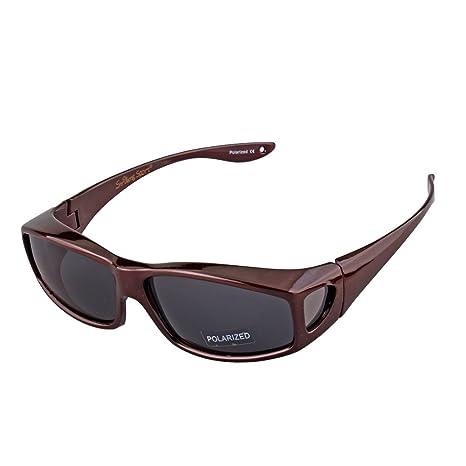 da96306dc99 Amazon.com  Polarized Sunglasses with Side Lens for Men Women Over Regular  Glasses Baseball Cycling Driving Fishing Golf  Sports   Outdoors